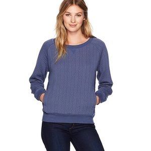 Prana Blue Silverspring Quilted Yoga Top Small